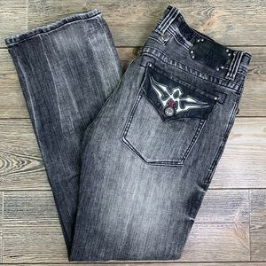 Affliction Los Angeles Cooper Relaxed Boot Jeans.